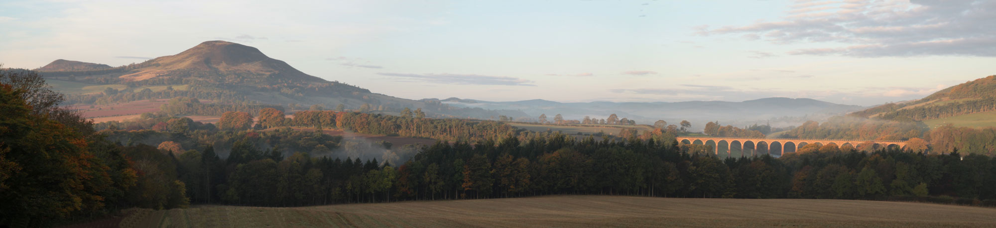 The view to the NE of St Boswells. Credit: Allan Drummond