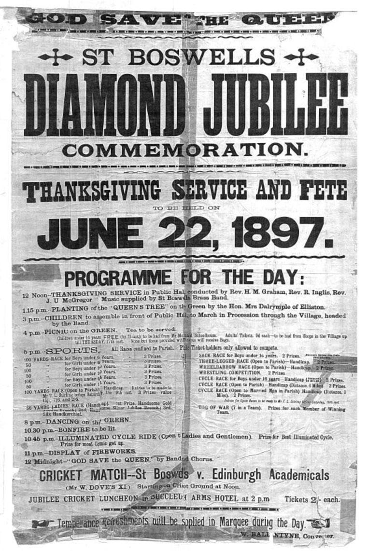 1897 St Boswells Diamond Jubilee Sports Poster