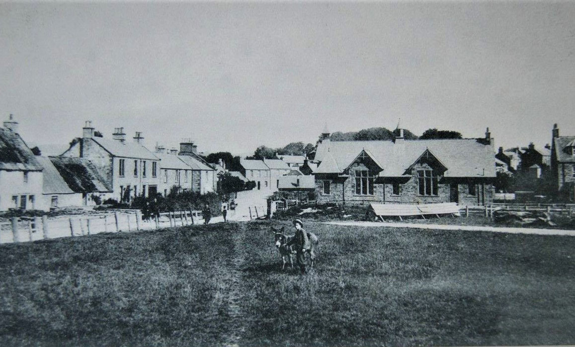 Village Hall viewed from the Green. Before 1897. Credit: Evelyn Macrae