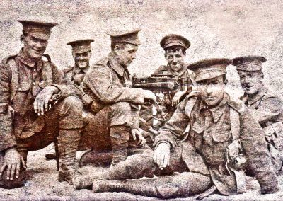 WWI, Machine Gun Corps, George Oliver (d.1974) on left