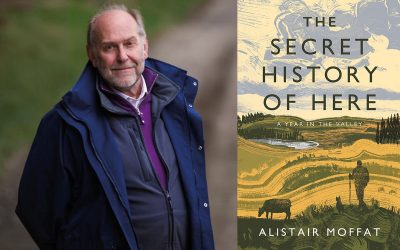 Alistair Moffat reading in the Hall, 30th August.